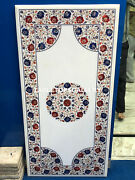 2'x4' Marble Dining Table Top Lapis Carnelian Inlay Floral Furniture Decors E130