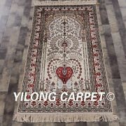 Yilong 3and039x5and039 Classic Handmade Classic Silk Carpets Tree Of Life Area Rugs 853b