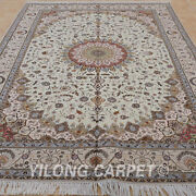Clearance Yilong 6and039x9and039 Handmade Wool Carpets Hand Knotted Wool Shag Rugs1403