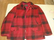 Vintage Midwest Outerwear Red Plaid Wool Hunting Jacket 42/l