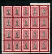 Virgin Islands 8a Sg 18a Very Fine Mint Sheet Of 20 Long Tailed S Variety