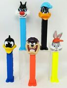 Vintage Pez Dispensers Wb Looney Tunes Lot Of 5 Daffy Duck Taz Bugs Loose Euc
