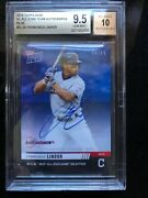 Francisco Lindor Indians Strong Autograph 2019 Topps Now All-star 3a /49 Bgs 9.5
