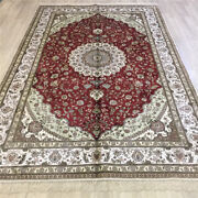 Yilong 6and039x9and039 Vintage Hand Knotted Carpet Flooring Traditional Silk Area Rug 087c