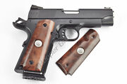 Wilson Combat 351bsb 1911 Grips Full-size Burl Wood Smooth Sterling Silver