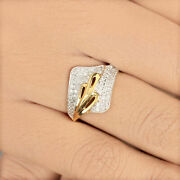 Natural Pave Diamond Solid 14k Yellow Gold Ring Fine Jewelry Us7 New Collection