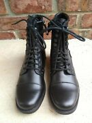 New Rock And Republic Outrigger Black Lace Up Side Zip Combat Boots Sz 7 Women's