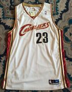Lebron James 2003-04 Rookie Team Apparel Cavs Home Jersey Nba Store New Size 48