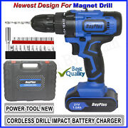 21-volt Drill 2 Speed Electric Cordless Drill / Driver With Bits Set / Battery