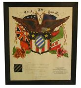 Extraordinary World War I Hand Done Award - Third Division