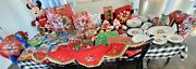 Mickey Mouse Minnie Disney Christmas Candy Cane Peppermint Tree Home Dishes Lot