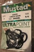 Mustad Ultra Point 5/0 Demon Perfect Circle Hooks 4x Strong Value Packs