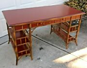 Milling Road Baker Furnitue Bristish Colonial Style Bamboo Desk