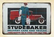 Wall Art 1929 Studebaker Delivery Cars And Trucks Metal Tin Sign