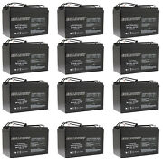 12x 12v 110ah Sealed Lead Acid Agm Battery Group 30h Replaces Ub121000