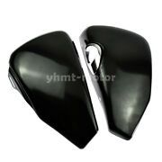 2x Black Side Oil Tank Battery Covers Fit For Sportster Iron 883 1200 2004-2013