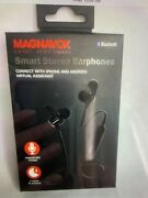 Magnavox Smart Stereo Earphones Bluetooth Mbh556 Connects W/ Iphone And Android