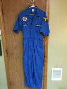 Civil Air Patrol Short Sleeve Coverall Aux U.s.a.f. W Patches Toppmaster Blue