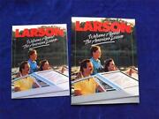Larson Boats Sales Brochure Catalog 1989 + Fold Out Poster Welcome Aboard