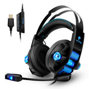 Noise-cancelling Wired Gaming Headset Stereo Surround For Ps3 Ps4 Xbox 360 Pc