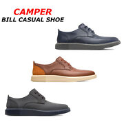Men Camper Bill Oxford Shoes Leather Lace Up Casual Shoes Comfort Ortholite Shoe
