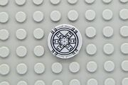 Lego Tile 2x2 Round With Black Sw Tie Fighter Pattern 9492 In One Set Only
