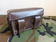 Vtg Wwii German Drk Albert Rommeda Field First Aid Leather Medic Pouch Case
