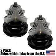 2pk Spindle Assembly W/ Double Pulley Fits Mtd Cub Cadet 618-0429b 918-0429b