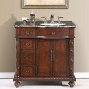 36 Granite Stone Countertop Bathroom Sink Cabinet With Sink On The Right 213b-r
