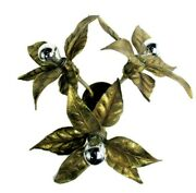 Willy Daro Design Wall Ceiling Sconce Light Modernist Gold Leafs Plafonniandegravere