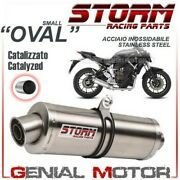 Catalyzed Full System Storm By Mivv Oval Stainless Steel Yamaha Mt-07 2014 2018