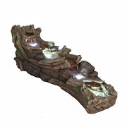 Kingston Woodland River Falls Garden Water Feature With Led Lights