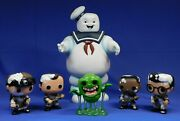 Funko Sdcc Ghostbusters Pop Vinyl Set With Diamond Stay Puft Bank