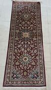 Antique Hand Knotted Silk Rug 1and039 X 4and039 Kum