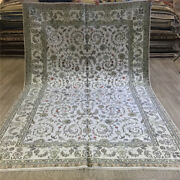 Yilong 6'x9' All-over Hand Knotted Carpets Flowers Vintage Silk Home Rugs 081c