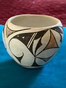 Antique Acoma Indian Hand Crafted Art Pottery Vessel Free Shipping