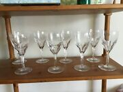 Baccarat Crystal....8 Genova Water Goblets 7.5 perfect Condition 640.