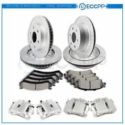 Front Rear Brake Rotors Calipers And Ceramic Pads For Gmc Sierra Yukon Xl 1500
