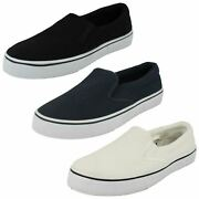 Mens Spot On Flat Twin Gusset Pump With Padded Collar