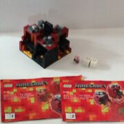 Lego Minecraft Micro World – The Nether 21106 W Tools, Minifigs, Instructions
