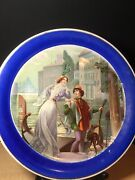 """Art Deco Porcelain Plate By Edwin M Knowles China Co 12"""" - Rare"""