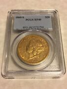 1860-s Xf40 Pcgs Liberty Double Eagle 20 Gold Coin Very Nice Coin For The Grade