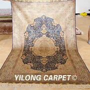 Yilong 5and039x8and039 Decorative Silk Rugs Top Hand Knotted Classic Carpets Handmade 0999
