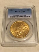 1861 Au55 Pcgs Liberty Double Eagle Type 1 20 Gold Coin Lustrous Very Nice Pq