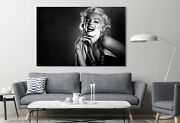 Marilyn Monroe Red Lips 2 Actress Painting Canvas Print Art Home Decor Wall Art