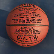 To My Son Want You From Mom Engraved Basketball Ball Gift Anniversary Birthday