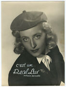 Photo Adv To The 1940 Hats Of Women Real Lux Belgium - 18x24