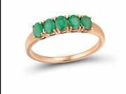 Round Shape Genuine Gold Ring Magic Emerald Engagement Jewelry Gift For Women