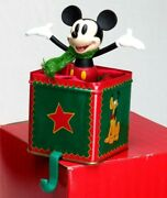 Disney Store Mickey Mouse Stocking Holder A Christmas To Remember 1999 Vintage