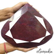 Super Huge 7.2 Kilo Natural Red Ruby Pear Faceted Earth Mined Colletorand039s Gem